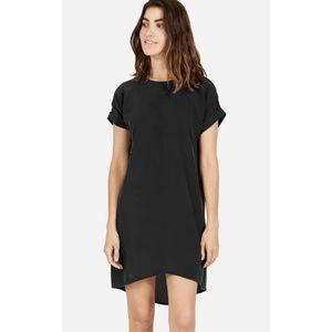 Everlane Black Silk Short Sleeve Dress Large